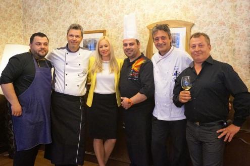 Kuharska ekipa, vinar Erzetič in Tanja Švigelj